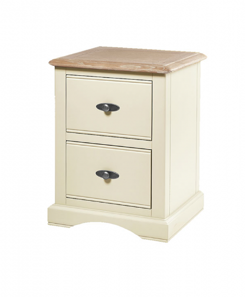 francis two drawer painted bedside
